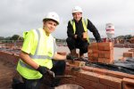 Kier Living Wales and West lay foundations and first bricks at Caerwent Gardens, Dinas Powys