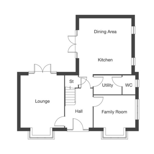 The Eastford ground floor floorplan