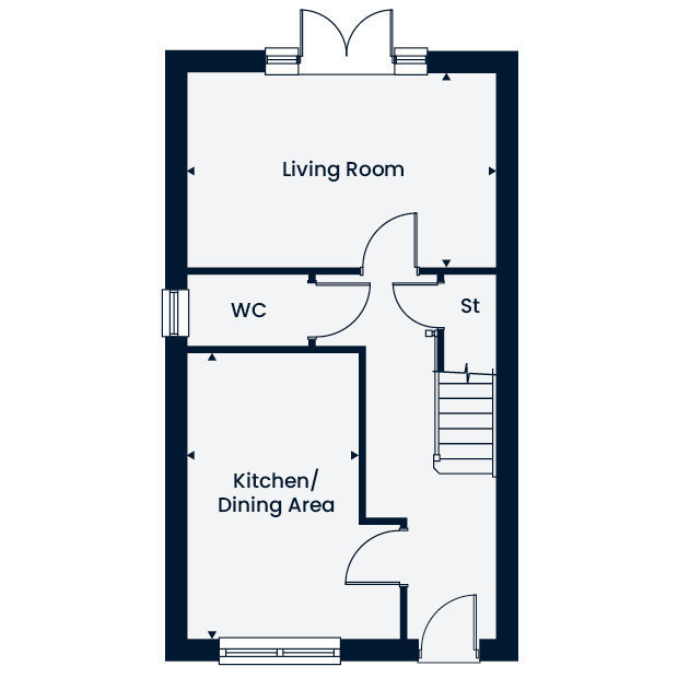 The Holmewood. ground floor floorplan