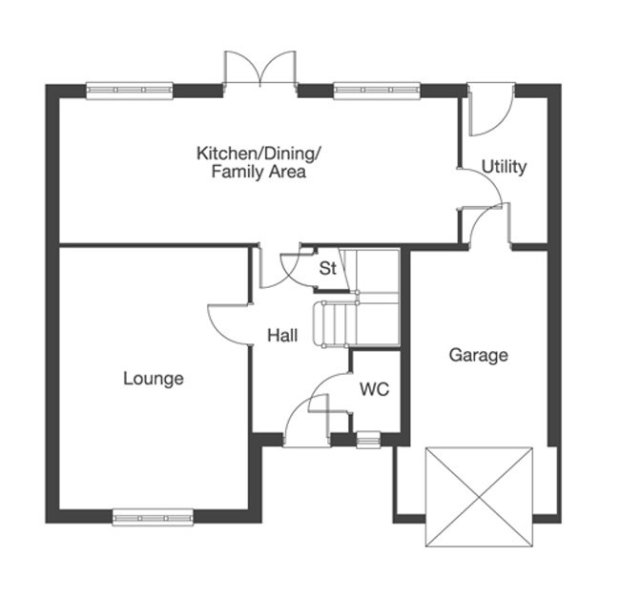 The Pensford ground floor floorplan