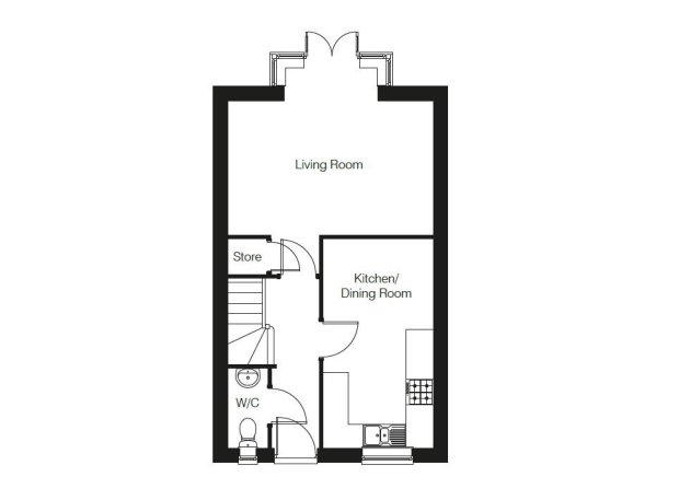 The Lawford ground floor floorplan