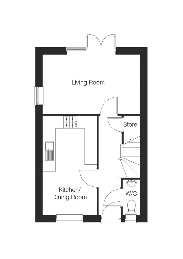 The Leighton ground floor floorplan