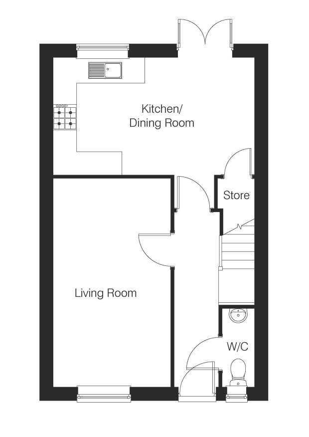 The Pinewood ground floor floorplan