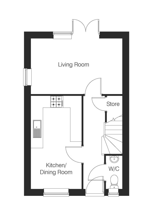 The Pemberton ground floor floorplan