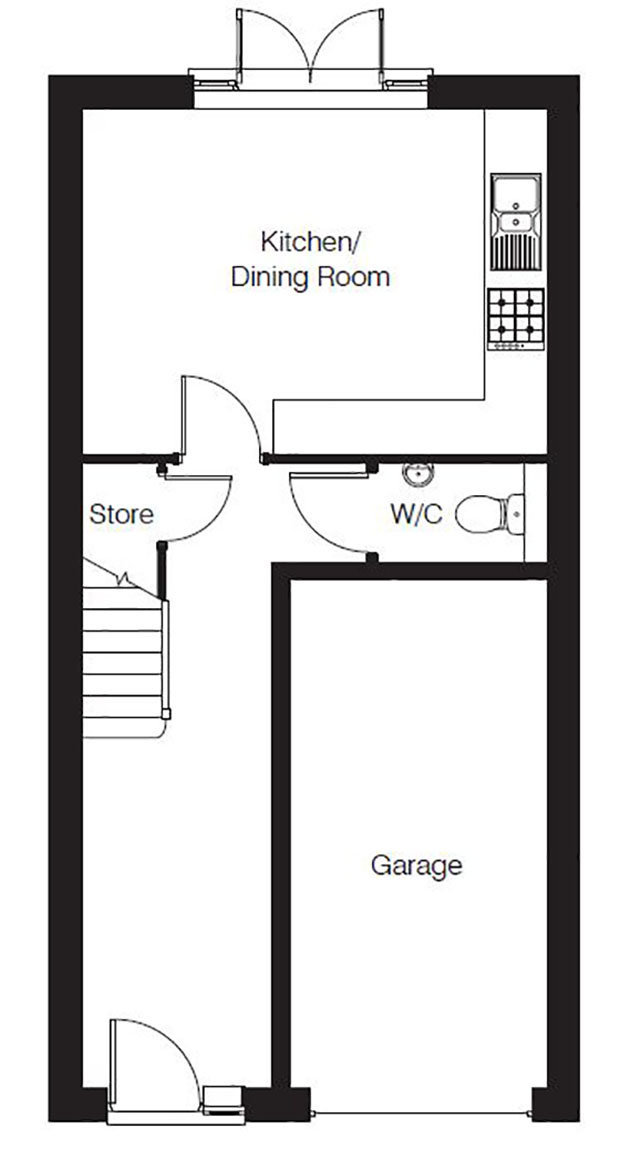 The Norford ground floor floorplan