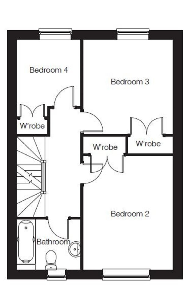 The Wexford V1 first floor floorplan