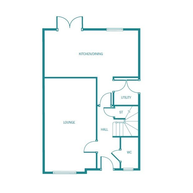 Hareford ground floor floorplan