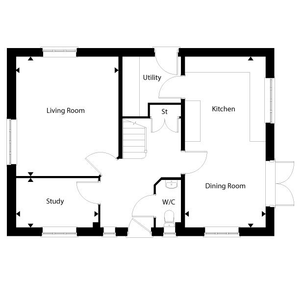 The Debden ground floor floorplan