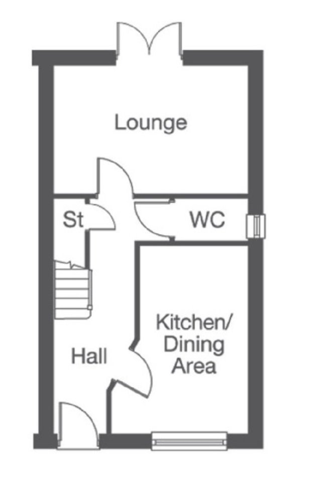 The Brough. ground floor floorplan