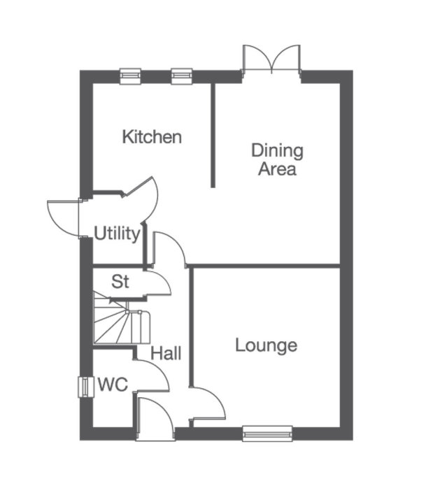 The Middleton ground floor floorplan