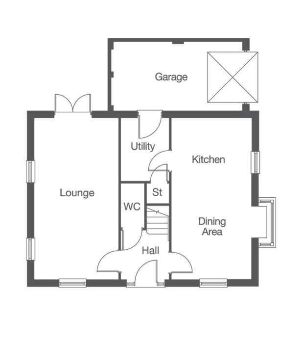 The Gainford FM ground floor floorplan