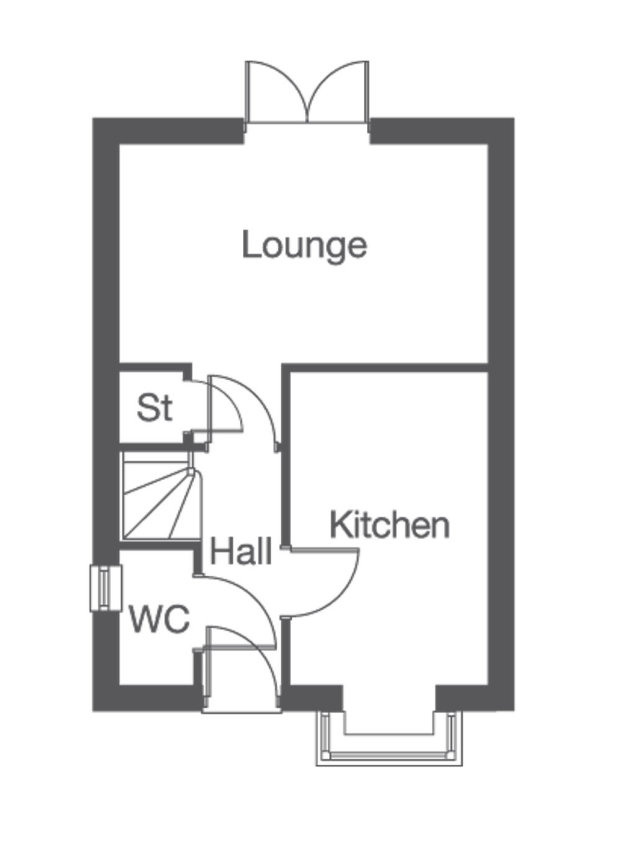 The Bowes ground floor floorplan