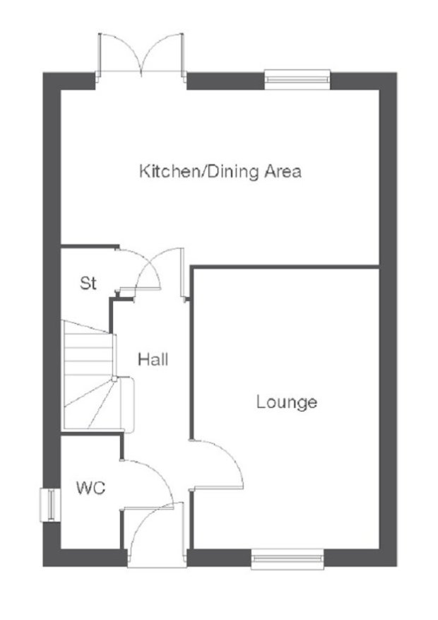 The Castleford ground floor floorplan