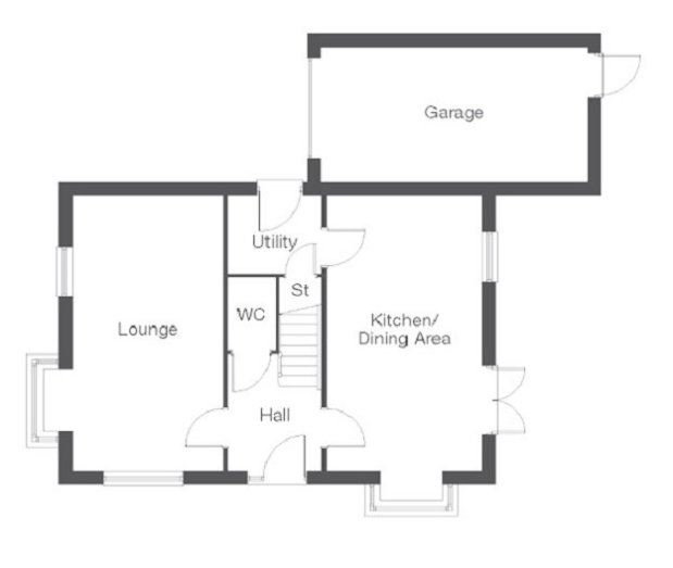 The Cranford 2 ground floor floorplan