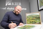 Artist signs limited edition prints at Alston Grange