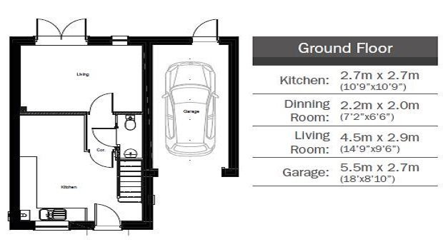 The Periwinkle ground floor floorplan