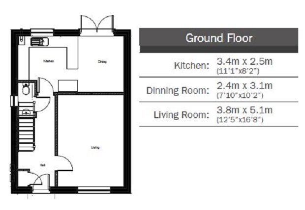 The Conte  ground floor floorplan
