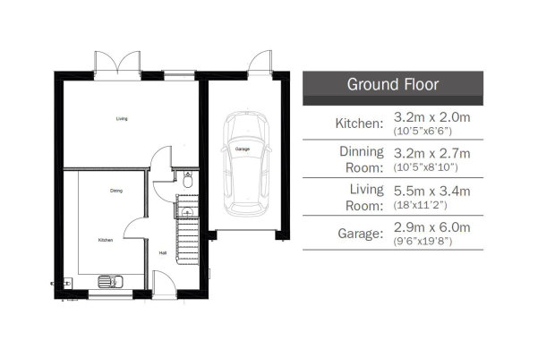 The Crocus  ground floor floorplan