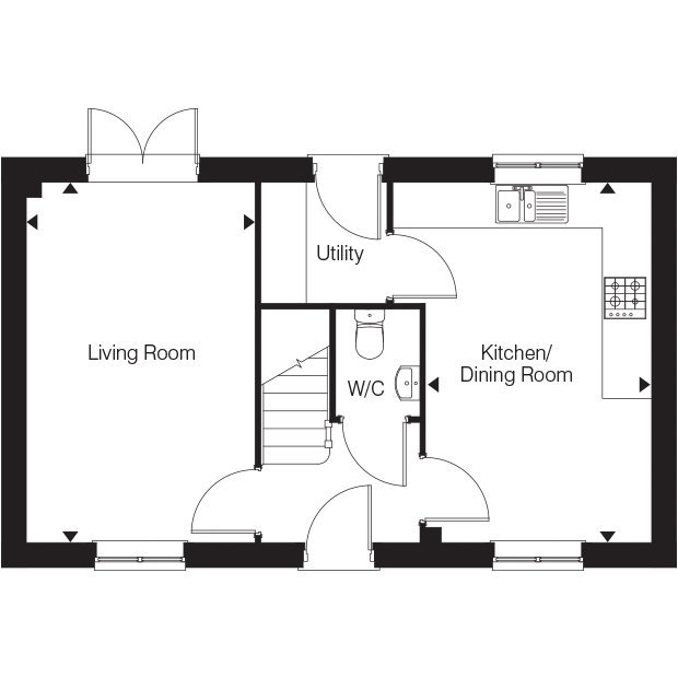 The Ashingdon ground floor floorplan