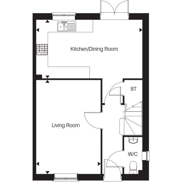 The Bluebell VI ground floor floorplan