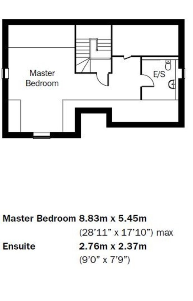 The Pentire  first floor floorplan