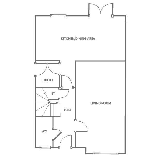 The Hareford ground floor floorplan