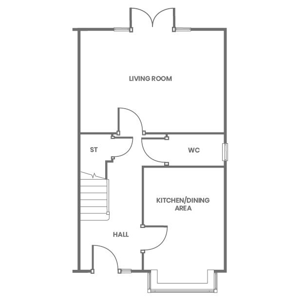 The Collingwood ground floor floorplan