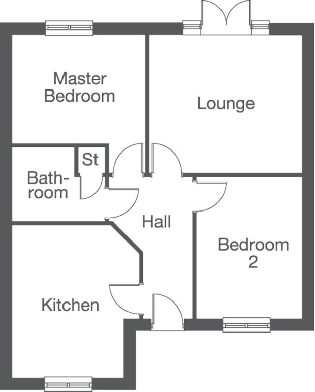 The Horsham ground floor floorplan