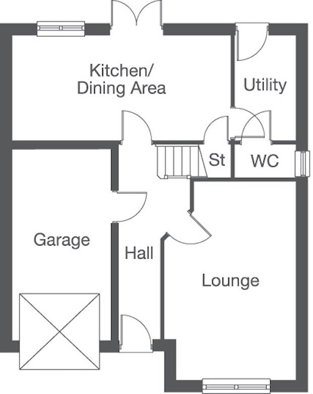 The Mapleford ground floor floorplan