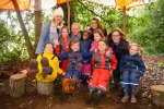 Kier Living Eastern helps pupils to have fun at the forest school
