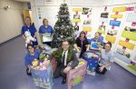 Kier Living Eastern presents toys to children at cancer ward