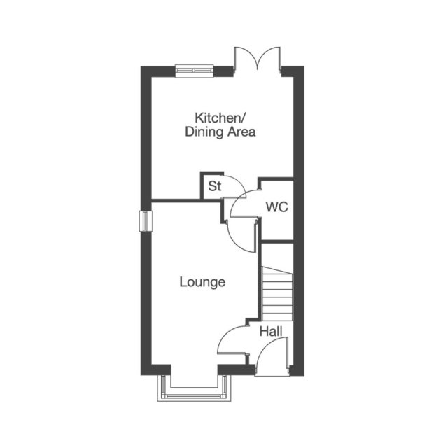 The Redwood ground floor floorplan
