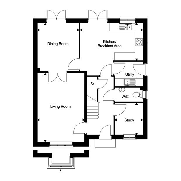 The Eversden ground floor floorplan