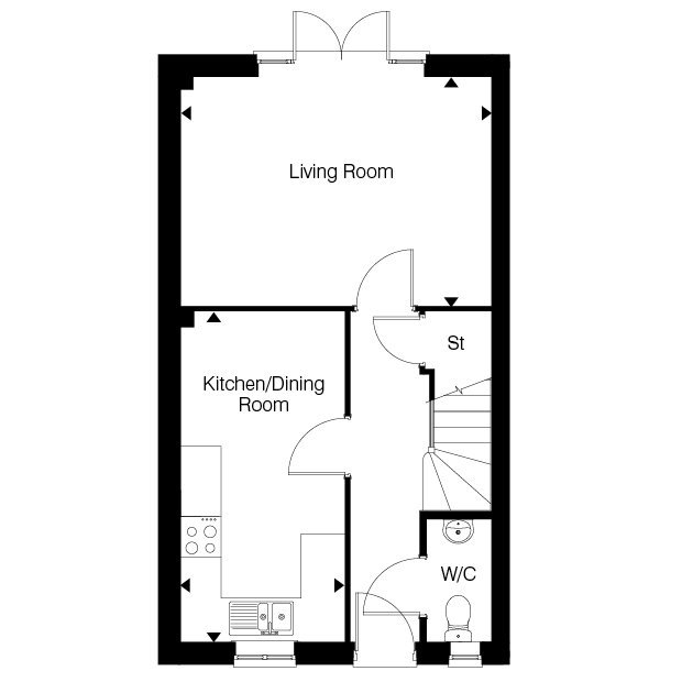 The Rosewood ground floor floorplan