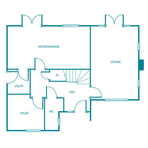 The Newford ground floor floorplan