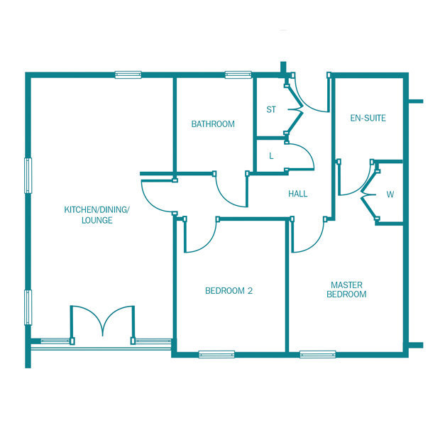 The Barrington ground floor floorplan