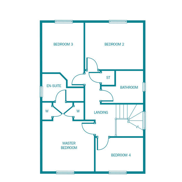 The Hareford first floor floorplan