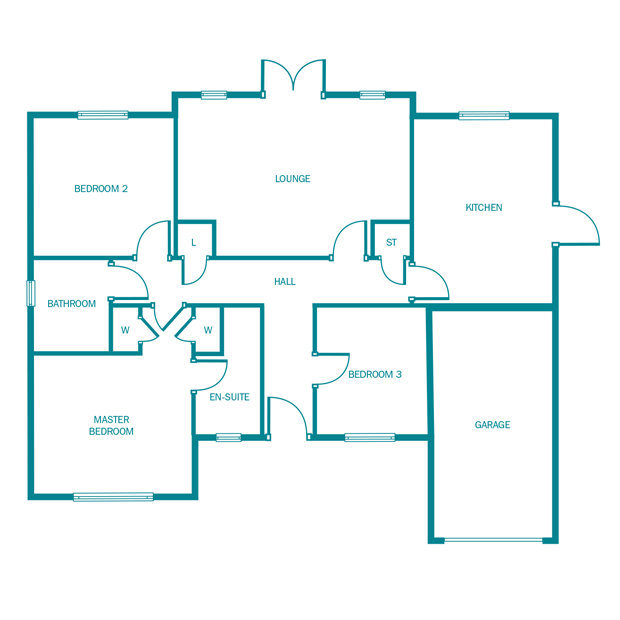 The Birchwood ground floor floorplan