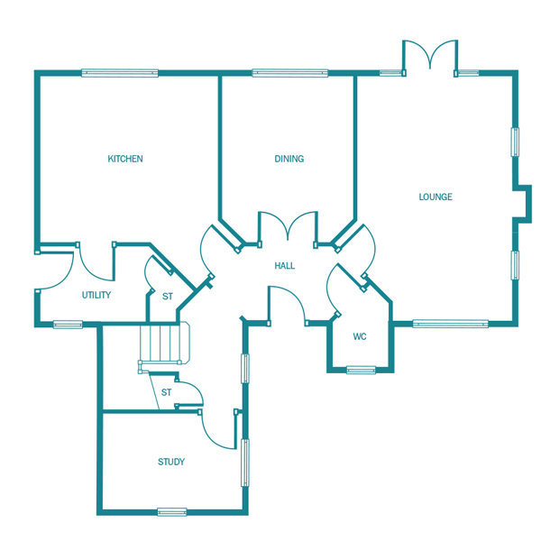 The Ellesworth ground floor floorplan