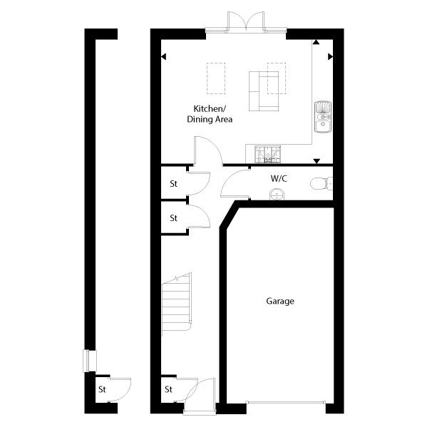 The Westhill ground floor floorplan