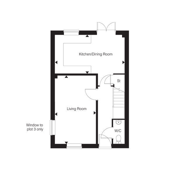 The Dersingham ground floor floorplan