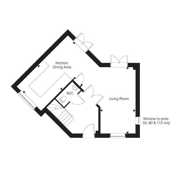 The Bullington ground floor floorplan