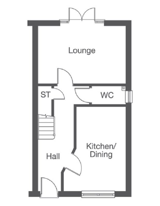 Teal ground floor floorplan