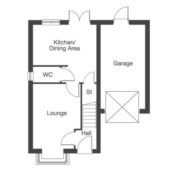 The Elderwood. ground floor floorplan