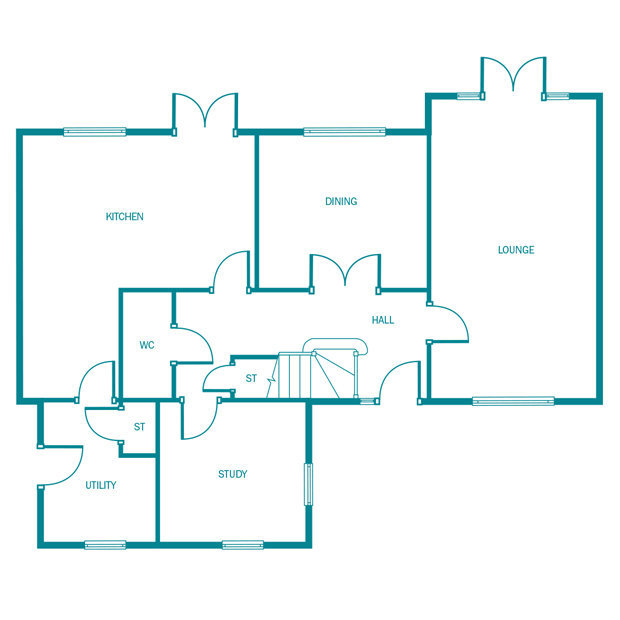 The Ludworth ground floor floorplan