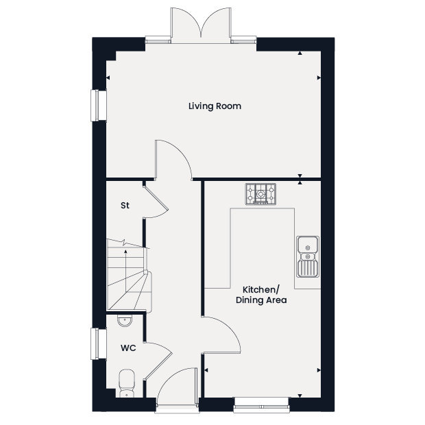 The Westwood ground floor floorplan