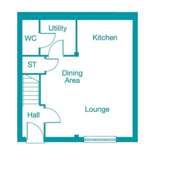 The Harewood ground floor floorplan