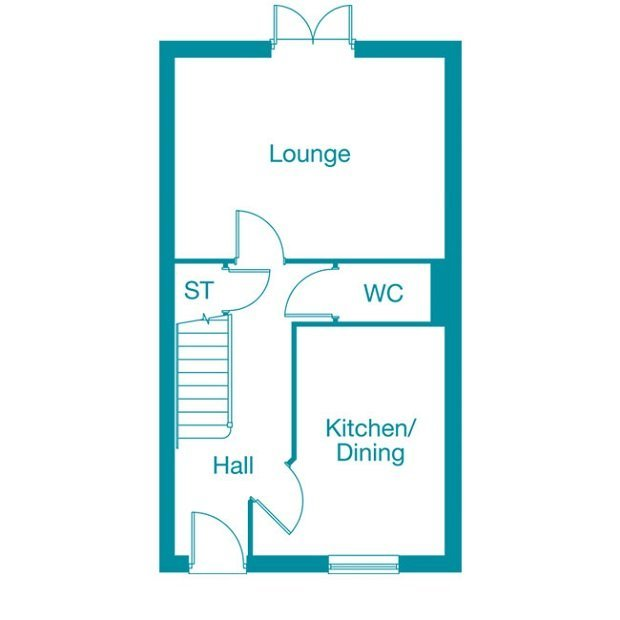 The Camberley ground floor floorplan