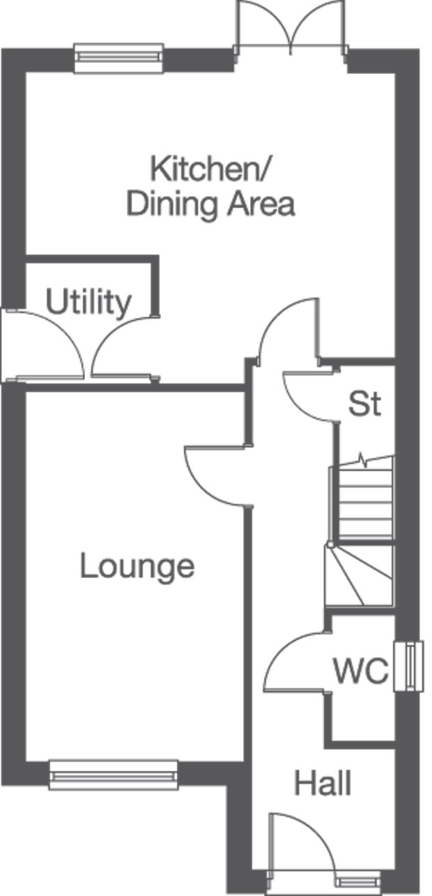 The Cottingham. ground floor floorplan