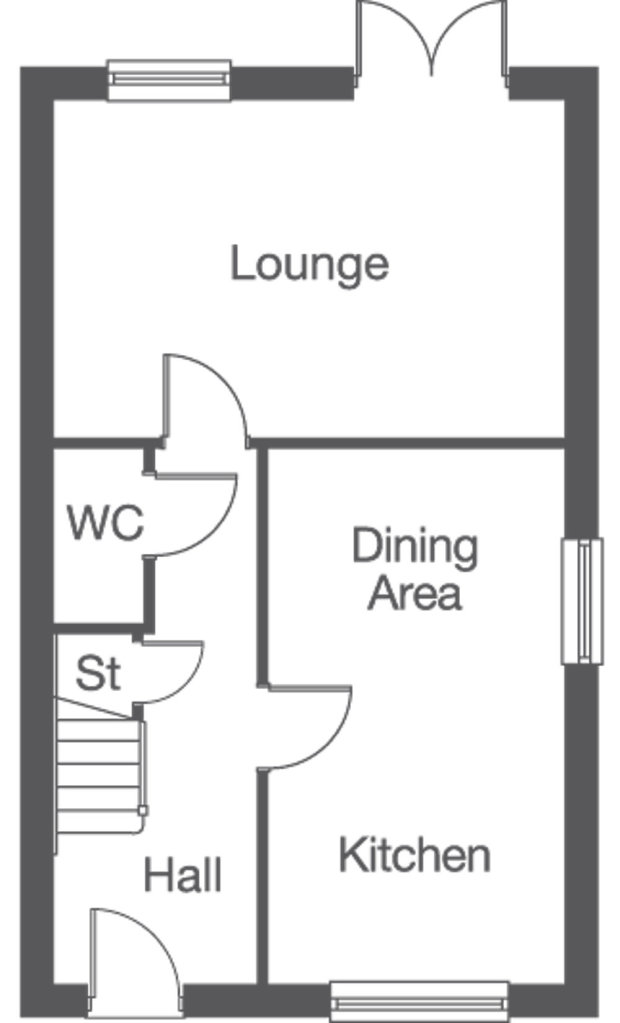 The Hessle ground floor floorplan